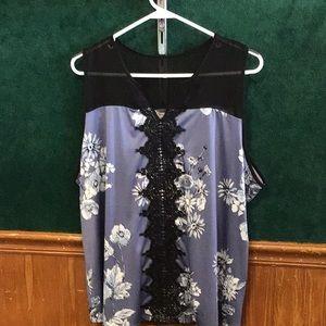 Maurices 2x tank sleeveless top shirt flower print